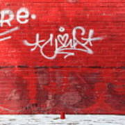 Red Cup Red Wall Poster