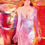 Red Drum And Tambourine Poster