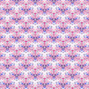 Red Fabric Pattern Poster