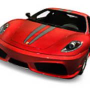 Red Ferrari F430 Scuderia Poster