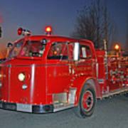 Red Firetruck Poster