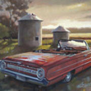 Red Galaxie Poster