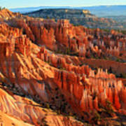 Red Glow On The Hoodoos Of Bryce Canyon Poster