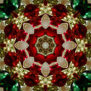 Red Gold Green Kaleidoscope 2 Poster