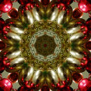 Red Gold Kaleidoscope 1 Poster
