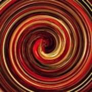 Have A Closer Look. Red-golden Spiral Art Poster