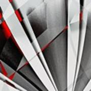 Red-grey Abstractum Poster