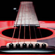 Red Guitar 16 Poster