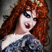 Red Hair, Gothic Mood. Model Sofia Metal Queen Poster