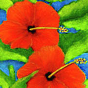 Red Hawaii Hibiscus Flower #267 Poster
