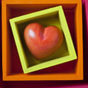 Red Heart In Box Poster