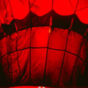 Red Hot Air Balloon Poster