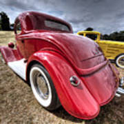 Red Hot Rod - 1930s Ford Coupe Poster
