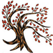 Red-leafed Tree Poster
