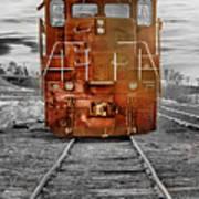 Red Locomotive Poster