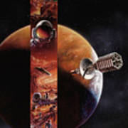 Red Mars Cover Painting Poster