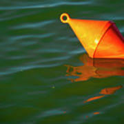 Red Mooring Buoy Poster