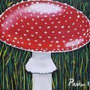 Red Mushroom Poster