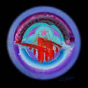 Red On Violet Poster