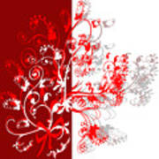Red Ornament Poster