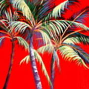 Red Palms Poster