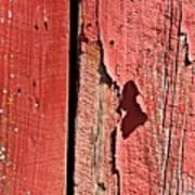 Red Peeling Paint- Fine Art Poster