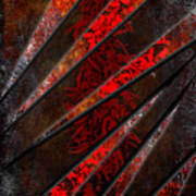 Red Pepper Abstract Poster