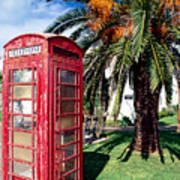 Red Phone Booth Bermuda Poster