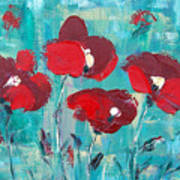 Red Poppies 2 Poster