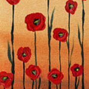 Red Poppies Decorative Art Poster