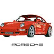 1997  Porsche 993 Twin Turbo R Poster