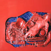 Red Relief Poster