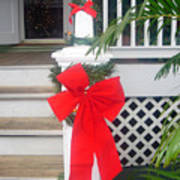 Red Ribbon On Steps Poster