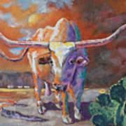 Red River Showdown Poster by J P Childress