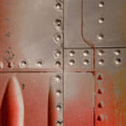 Red Rivets Poster