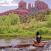 Red Rock Crossing -  Sedona Arizona Usa Poster by Tony Crehan