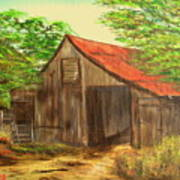 Red Roof Barn Poster