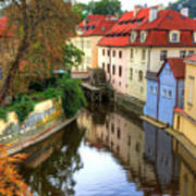 Red Roofs Of Prague Poster