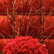 Red Rose Display Close Up Poster by Linda Phelps