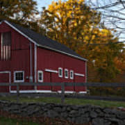 Red Rustic Barn Poster