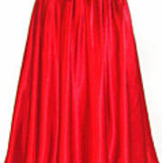 Red Satin Mid-calf Skirt. Ameynra Simple Line 2013 Poster
