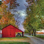 Red Shaker Carriage Barn Poster