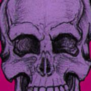 Purple Skull Poster