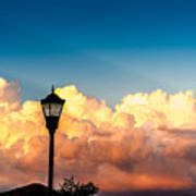 Storm Clouds During Sunset Poster