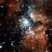 Red Smoke Star Cluster Poster