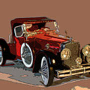 Red Stutz Poster