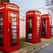 Red Telephone Booths London Poster