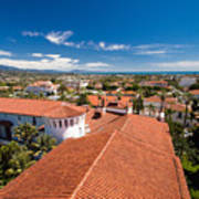 Red Tile Roofs Of Santa Barbara California Poster