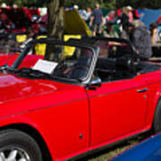 Red Tr6 Poster