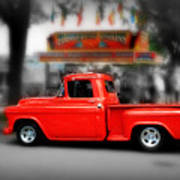Red Truck Poster